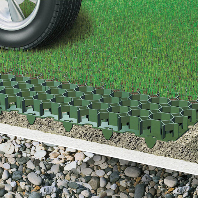 Ground grid for Dupont ground grid stabilisateur de graviers